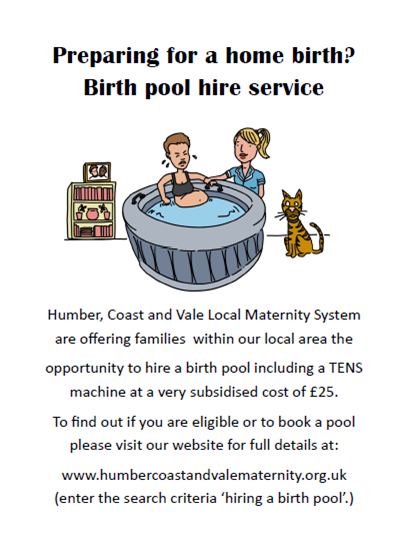Birth Pool Hire for Hull & East Riding Families